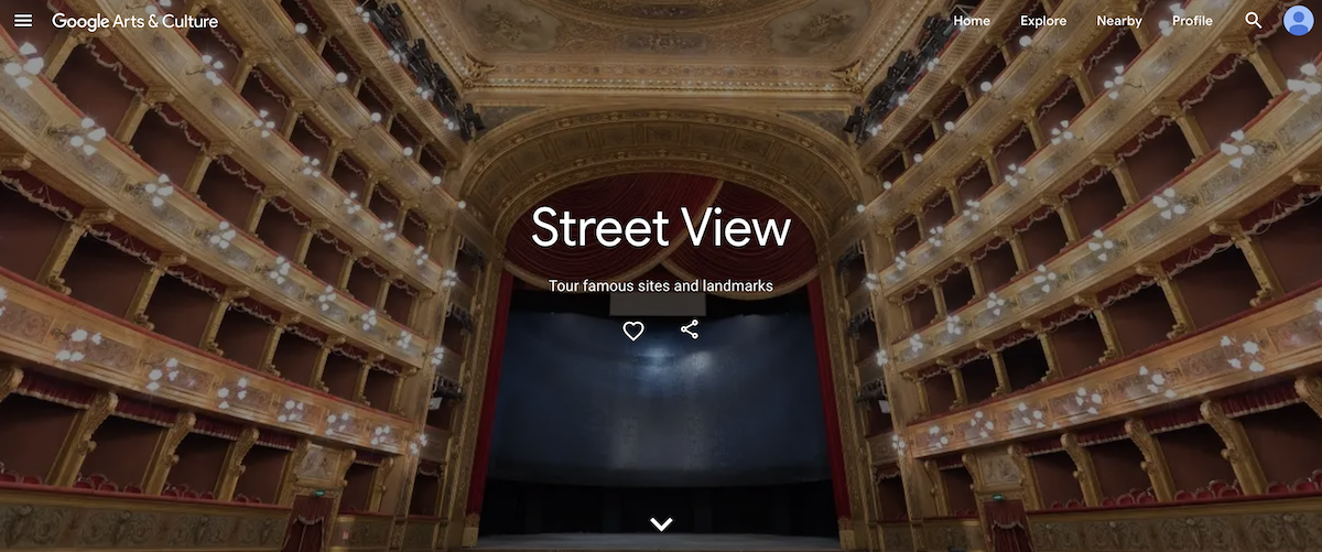 Google Street View - Arts & Culture